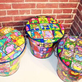Pop Art Trash Cans