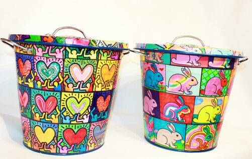 Pop Art Trash Cans - Small Size